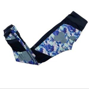 Calia by Carrie Underwood Geometric Leggings small blue and black